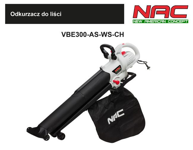 NAC Dmuchawa odkurzacz ogrodowy 3000W VBE300-AS-WS-CH