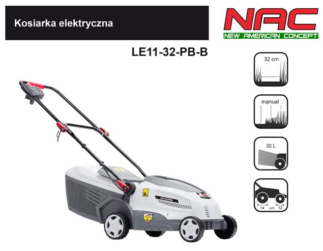 NAC Kosiarka elektryczna 1100W LE11-32-PB-B