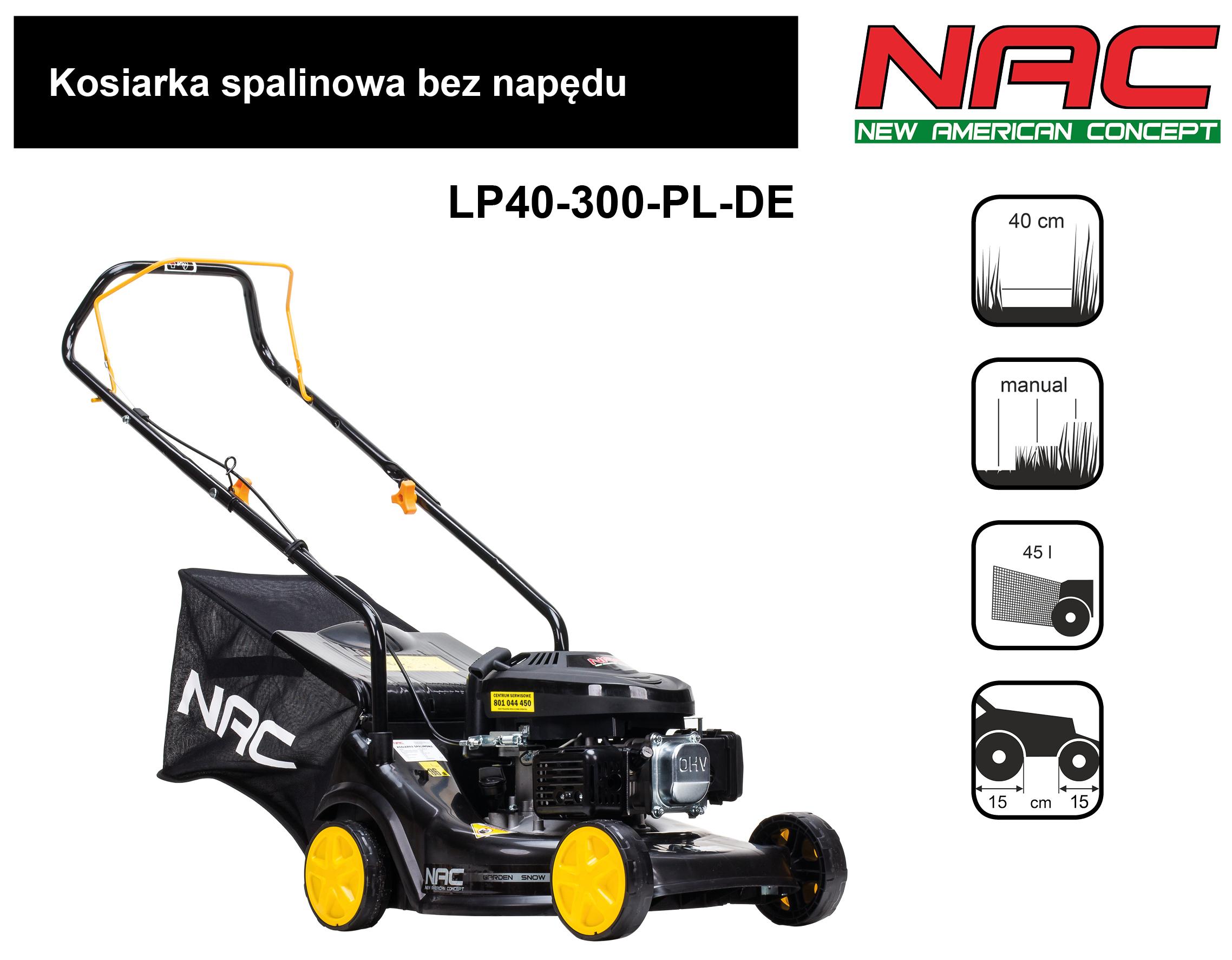 NAC Kosiarka spalinowa LP40-300-PL-DE